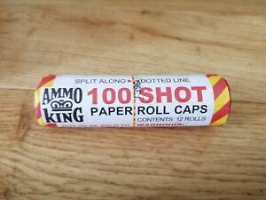 AMMO KING TOY GUN PISTOL PINK PAPER CAPS 12 X 100 =1200 VINTAGE NOT WICKE KIDS