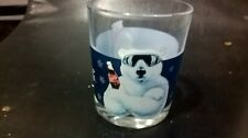 COCA COLA WINTER BEAR  SKATING COLLECTABLE GLASS COKE FREE DELIVERY