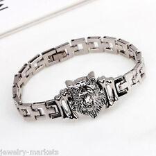 Fashion Men's Stainless Steel Watchband Tiger Bracelet Wristband Bangle Jewelry
