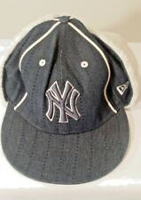 New York Yankee Cap  New Era 7 3/8 size with flurry dog ear