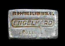 Vintage ENGELHARD SIlver 10oz Poured Loaf Silver Bar .999+ Pure Serial# P0116*8