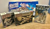 NOS Lot 4 Vintage STAR WARS Models R2-D2 X-Wing STAR DESTROYER TIE INTERCEPTOR