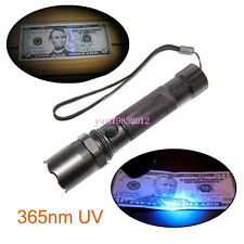 Genuine 365nm 3W UV Black Ultra UV Light Flashlight Fake Money Currency Detector