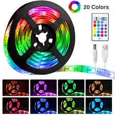2M USB 30LEDs Strip Lights IP65 5050SMD RGB TV LED Strip W/ IR Remote Controller