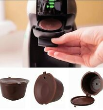 3x refillable reusable coffee capsules pods for Dolce Gusto machine brown
