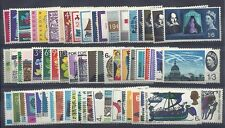 1957 - 1970 Full Set of QEII Ord commemoratives UNMOUNTED MINT/MNH