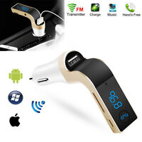 Car FM Transmitter Wireless Hands-free LED MP3 Player Radio Adapter USB Charger