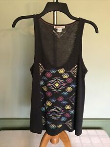 Billabong Gray Tank With Aztec Patterns - Size M - NWOT