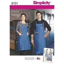 Simplicity SEWING PATTERN 8151 To Make Retro 1940s Aprons-Misses/Mens/Girls/Boys