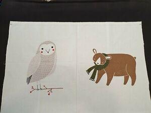 100% Cotton Fabric Panel Merriment by Gingiber Woodland Large Animal Moda Panel