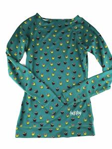 BURTON DryRide Women's XS Long Sleeve Base Layer Top Shirt Long Underwear Green