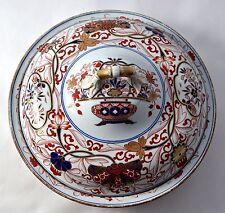 """ANTIQUE SPODE STONE CHINA IMARI PATTERN 2283 10.25"""" ROUND COVERDISH C.1820"""