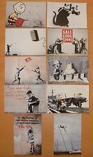 NEW SET OF TEN QUALITY BANKSY POSTCARD SIZE  PHOTO  PRINTS.