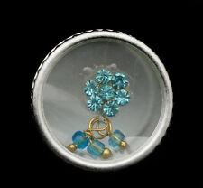 Bindi fleur strass bleu ciel bijoux de peau front ht de gamme 13mm  ING F 2386
