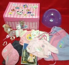 ZAPF Creation BABY Born Doll Trunk Box Clothing & Accessories Bundle