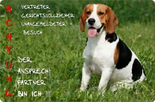 BEAGLE - A4 Metall Warnschild fun SCHILD Hundeschild Alu Türschild - BGL 15 T10