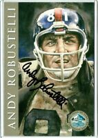 Giants ANDY ROBUSTELLI auto autographed signed Certified Signature Series Card D