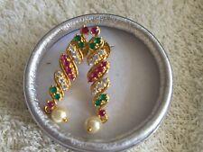 semi precious 1g gold polish pure silver and  copper necklace , earrings