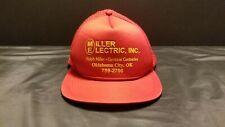 Vintage Red Net Snapback Trucker Hat Miller Electric Inc Ralph Miller Electrical