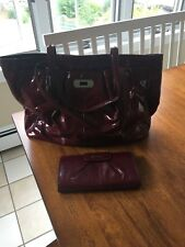 Coach red patent leather purse and wallet