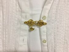 Gold Filigree Dickie Pete Clip clasp for Shirt, Sweater, Scarf Tunic