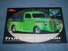"""1938 Ford Pro-Street Pickup Vintage Article """"Truck Rod to Go"""""""