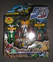 SHIN JEEG Robot D'Acciaio 4 Pack Minifigures Sheen Jeeg Himika Amaso GP Yamato