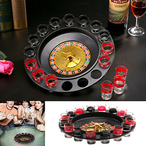 Party Casino for Adults Drinking Casino Glasses Game Spin & Shot Roulette Wheel