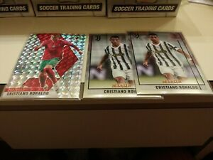 2020-21 Panini Mosaic UEFA Euro Cristiano Ronaldo MOSAIC PRIZM + (2) Topps base