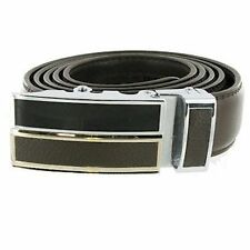 Brown Leather Double Bar Automatic Adjustable Belt SARBLT2