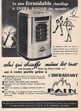 PUBLICITE ANCIENNE AUTHENTIQUE DE 1956 . L'INFRADIANT PAIN . 12 cm X 16.5 cm