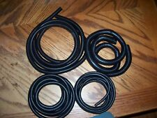 BLACK  WIRE COVERING LOOM CONVOLUTED TUBING SPLIT LOOM OVER 50 FEET LOT LOOK!!!