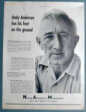 Original 1948 N. A. M. Ad Featurin Andy Anderson Farmer from West Millington, NJ