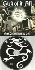 SICK OF IT ALL PROMO CD w/ RISE AGAINST Unearth BOUNCING SOULS Kill your Idols