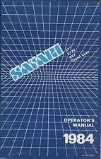 1984 Safari 377/377E/447/Grand Luxe Snowmobile Operator'S Manual (224)
