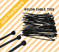 2.5mm x 100mm Cable Ties Zip Ties Black Nylon UV Stabilised Good Quality NEW AU