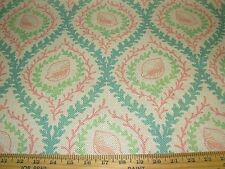 "~2 YDS~REGAL~""CAPTIVA SEASHELLS CORAL""~UPHOLSTERY DRAPERY FABRIC FOR LESS~"