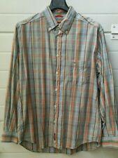 Camicia vintage da uomo Carrera a quadri taglia L in tela di cotone 100%