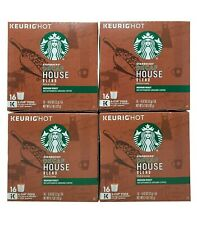 Starbucks Decaf House Blend Medium Roast Coffee 64 K-Cup Expiration July 2020