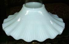 Opal Glass Petticoat Shade for old antique oil kerosene lamp chimney