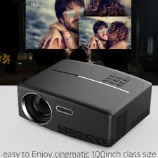 4K Portable LED 3D HD 1080P Home Theater LCD Cinema Mini Projector+2x 3D Glasses