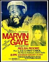 Music Poster Reprint Marvin Gaye at Oakland Auditorium 1977