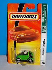 Matchbox 2008-09 Metro Rides Series #28 Smart Cabrio Green w/ Black Stripe