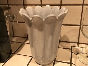 Grey Ceramic Tulip Vase