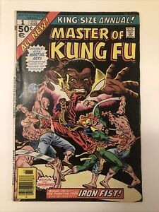 Master of Kung Fu Annual #1 1st Meeting of Shang Chi & Iron Fist Marvel Movie 🔥
