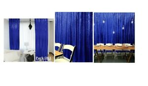 Royal Blue Sequin Wedding Curtain 3 Ft by 7 Ft Backdrop Sequin, Wedding Sequin