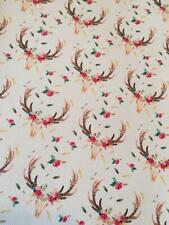 Bow Fabric A4 Leatherette Floral Woodland Stag