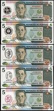 Philippinen/ Philippines 5 Piso Commemorative Issue Banknote LOT Pick 175 - 179
