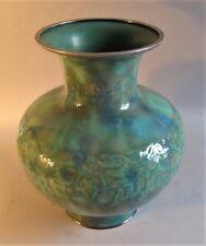 Massive & Rare Signed ANDO MEIJI-ERA JAPANESE CLOISONNE Vase  c. 1900  antique