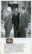 GENE BARRY JOHN MARLEY WEARS FEZ THE NAME OF THE GAME ORIGINAL 1968 NBC TV PHOTO